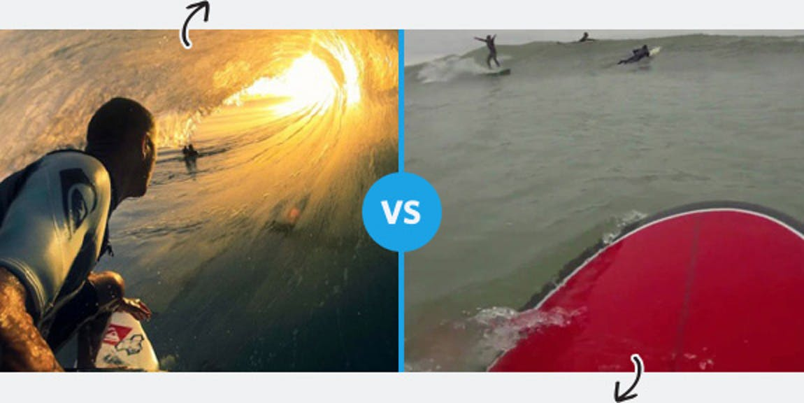 Surfing Perception vs. Reality