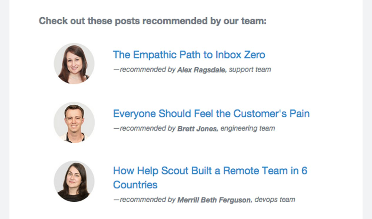 recommend content