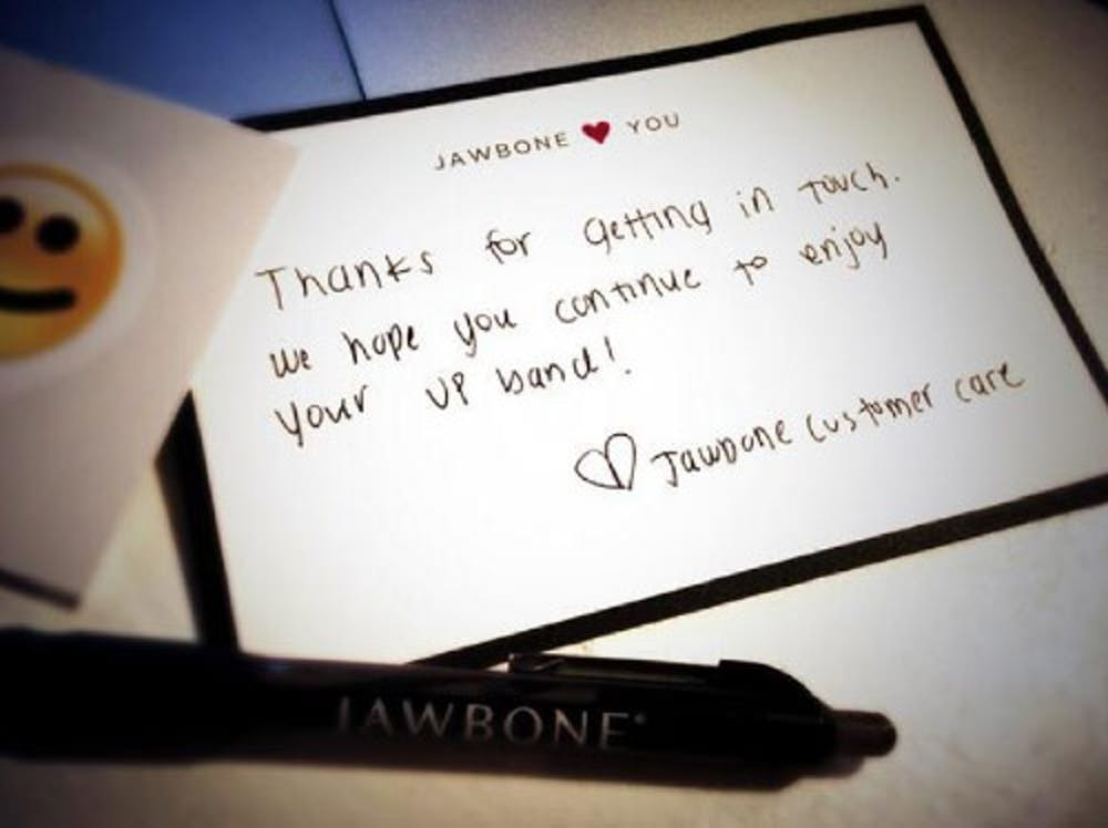 Jawbone Thank You Card