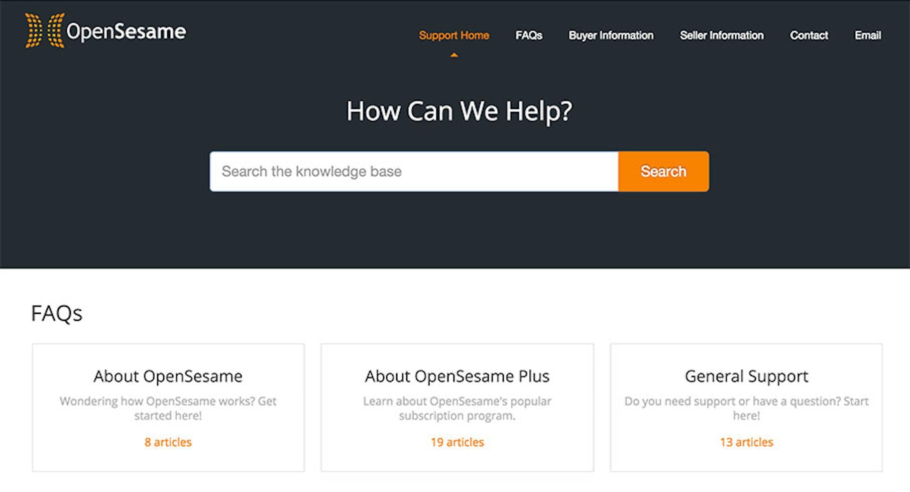 OpenSesame Docs knowledgebase