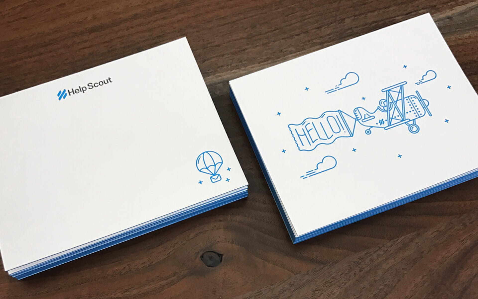 Help Scout's letterpressed notecards