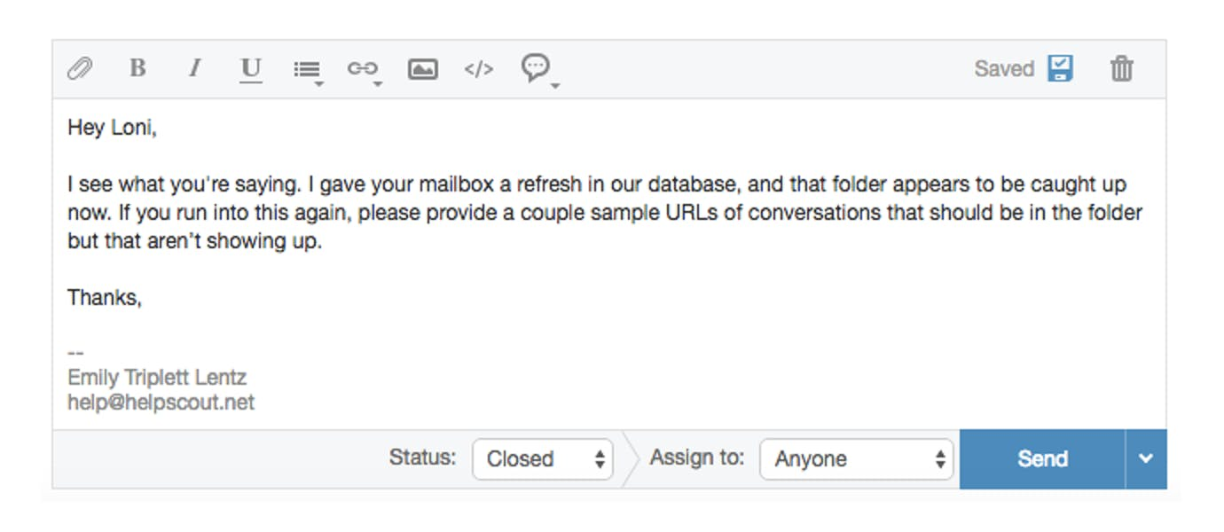 email response one