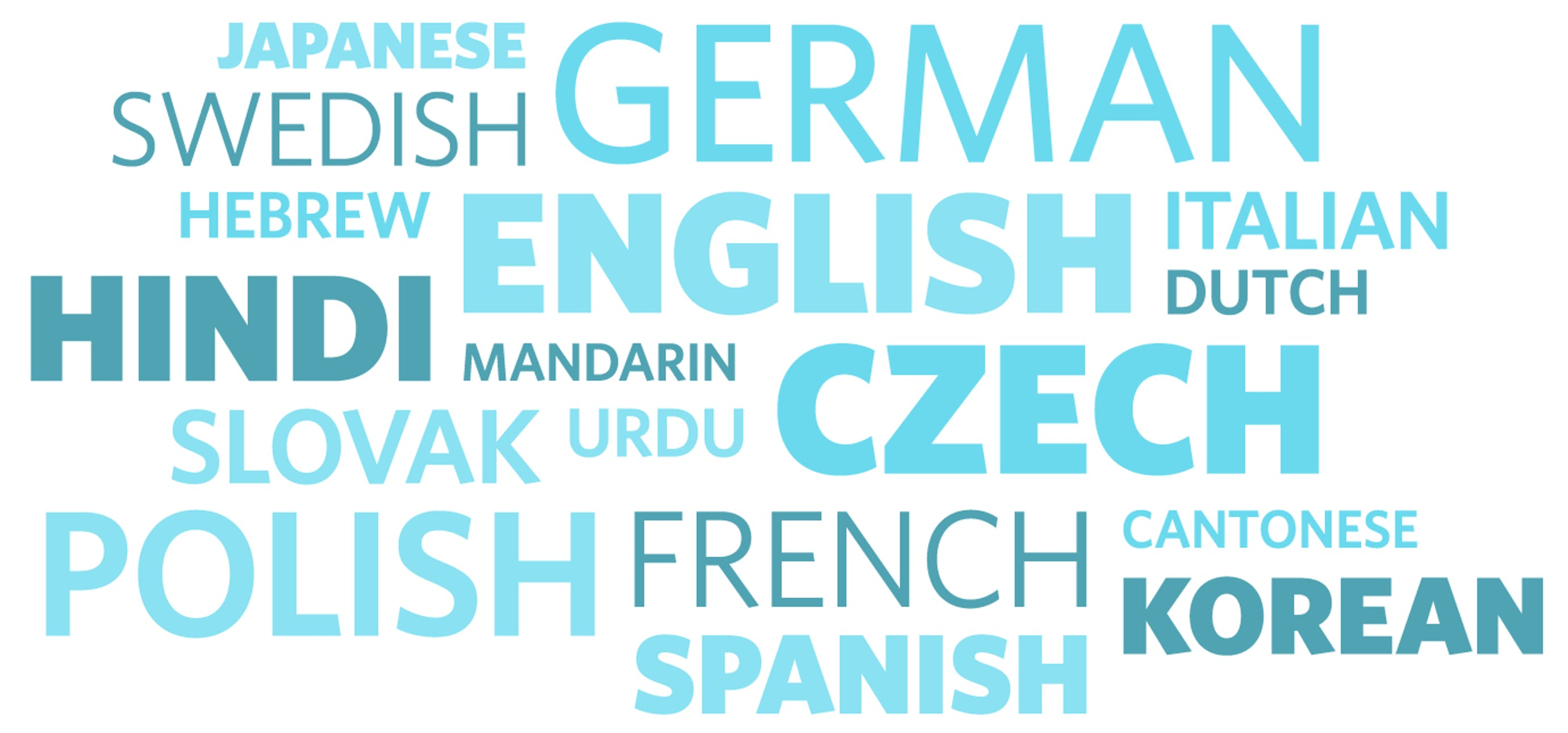 All the languages spoken on the Help Scout team