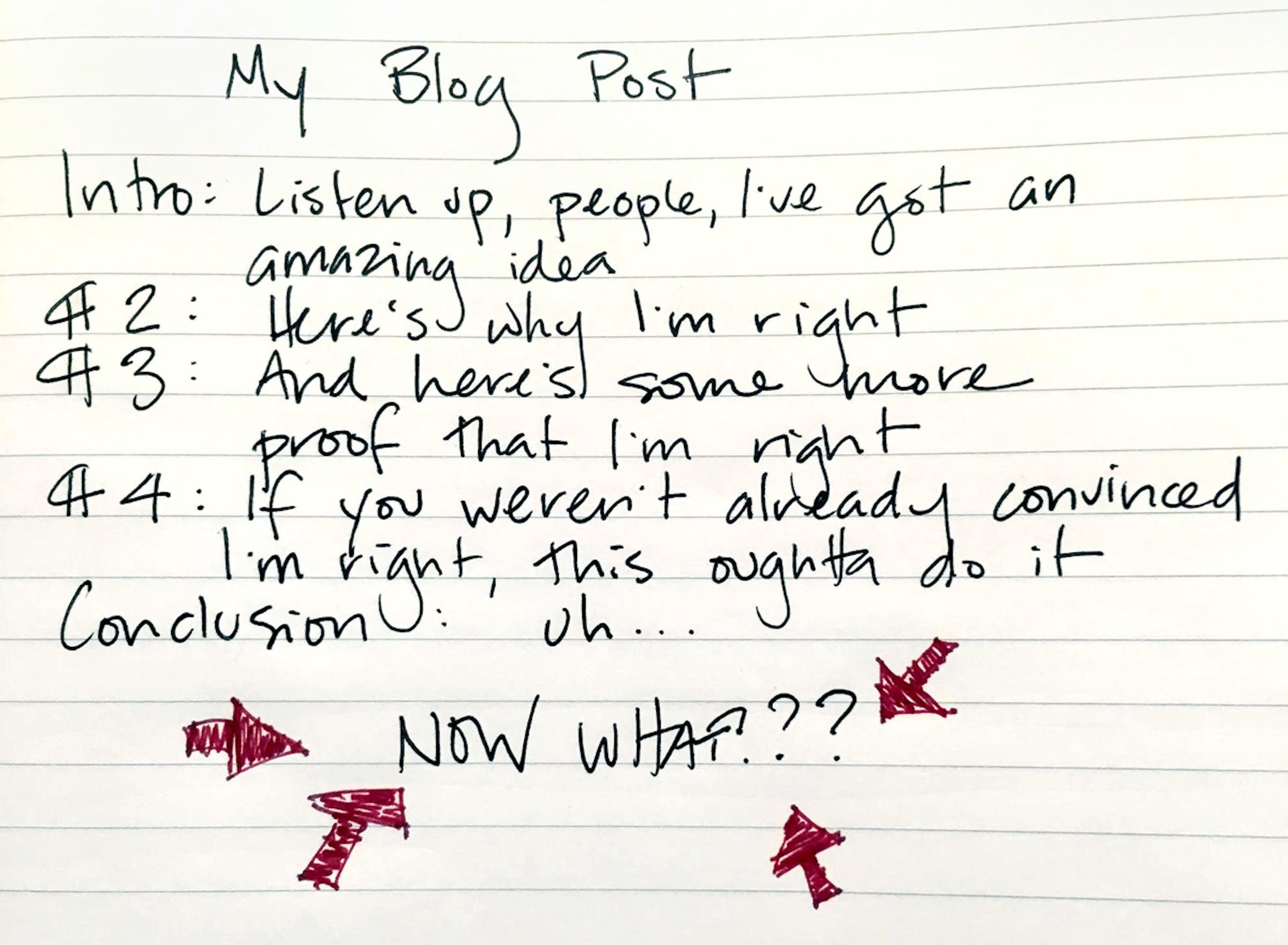 My blog post