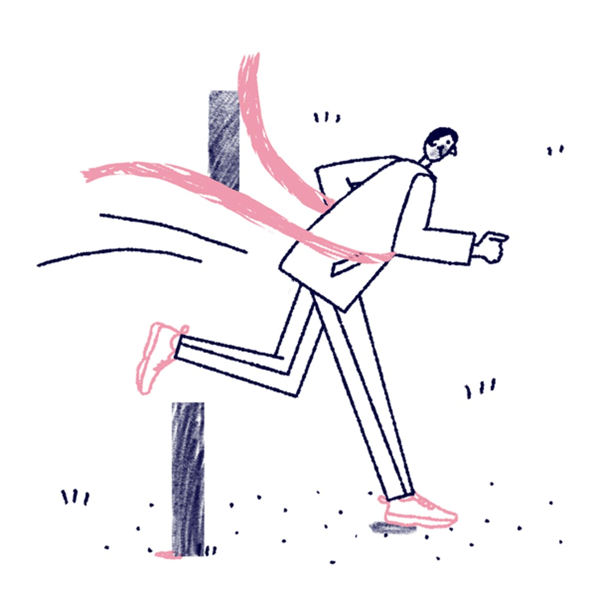 suit runner illustration