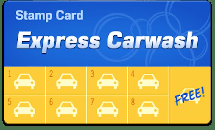 Car Wash Loyalty Card - Version 1