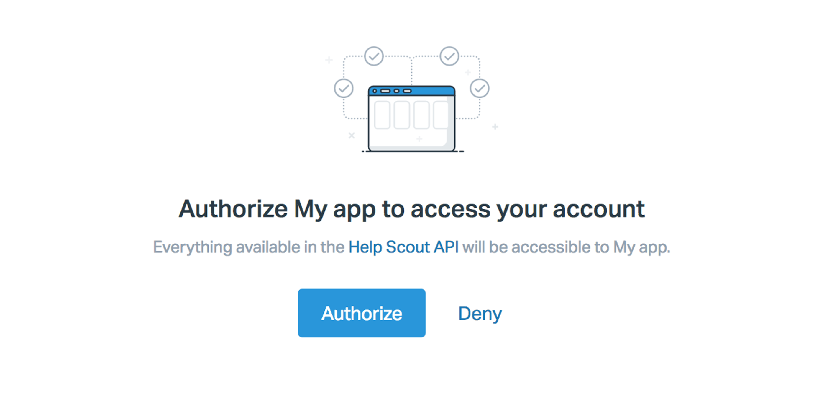 Image of Help Scout authorization screen
