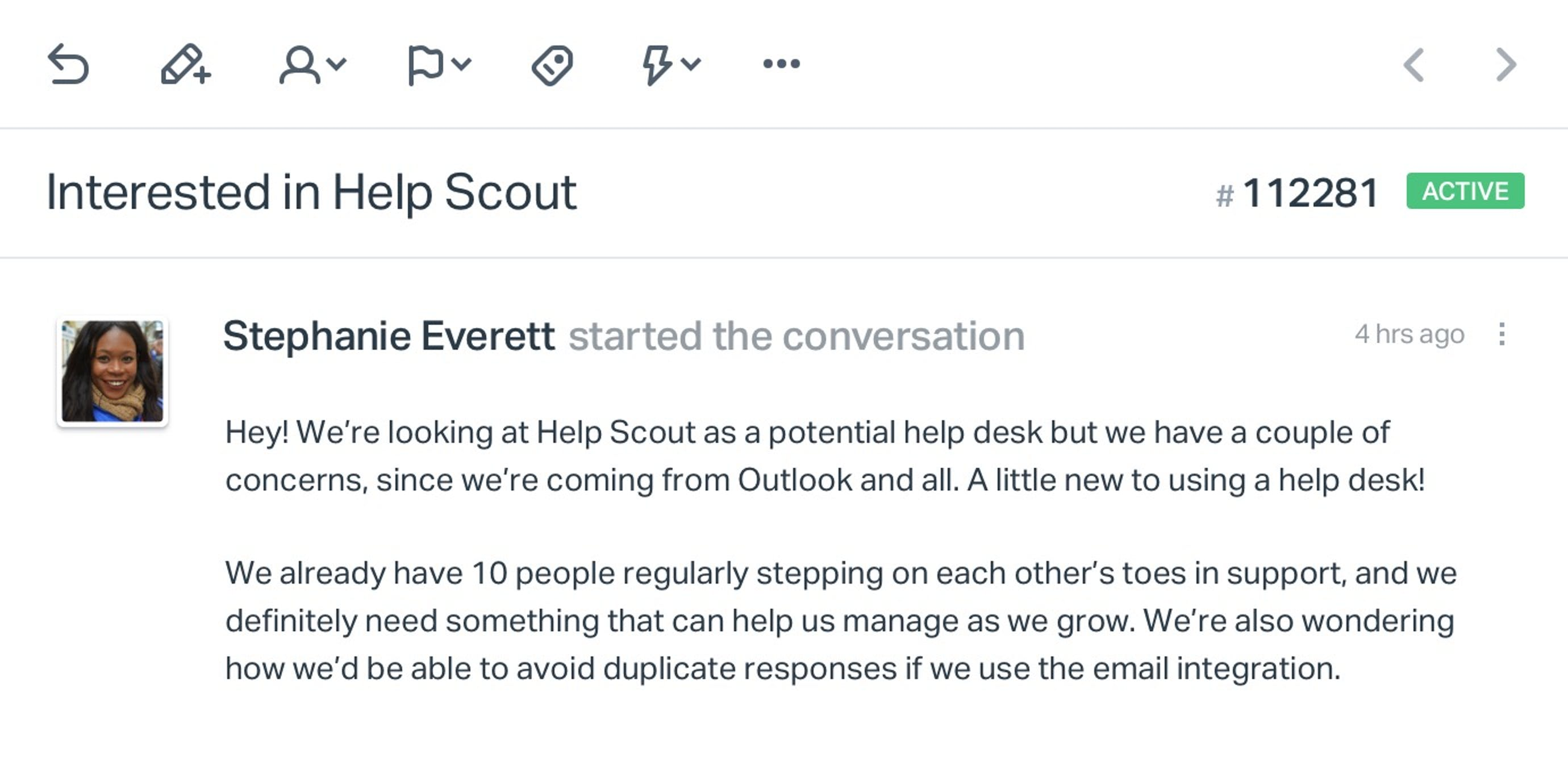 Question with Help Scout