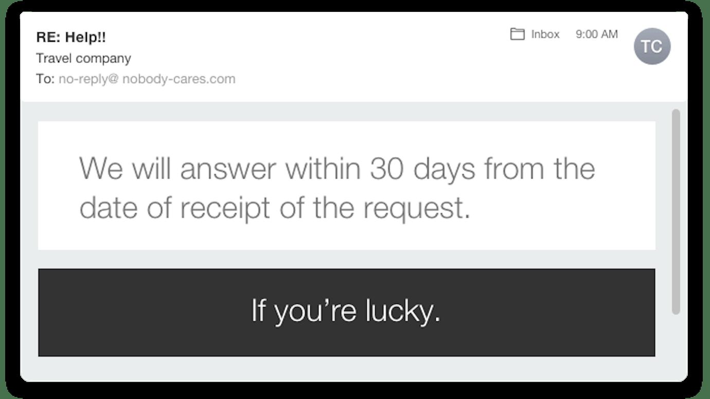Poor service response
