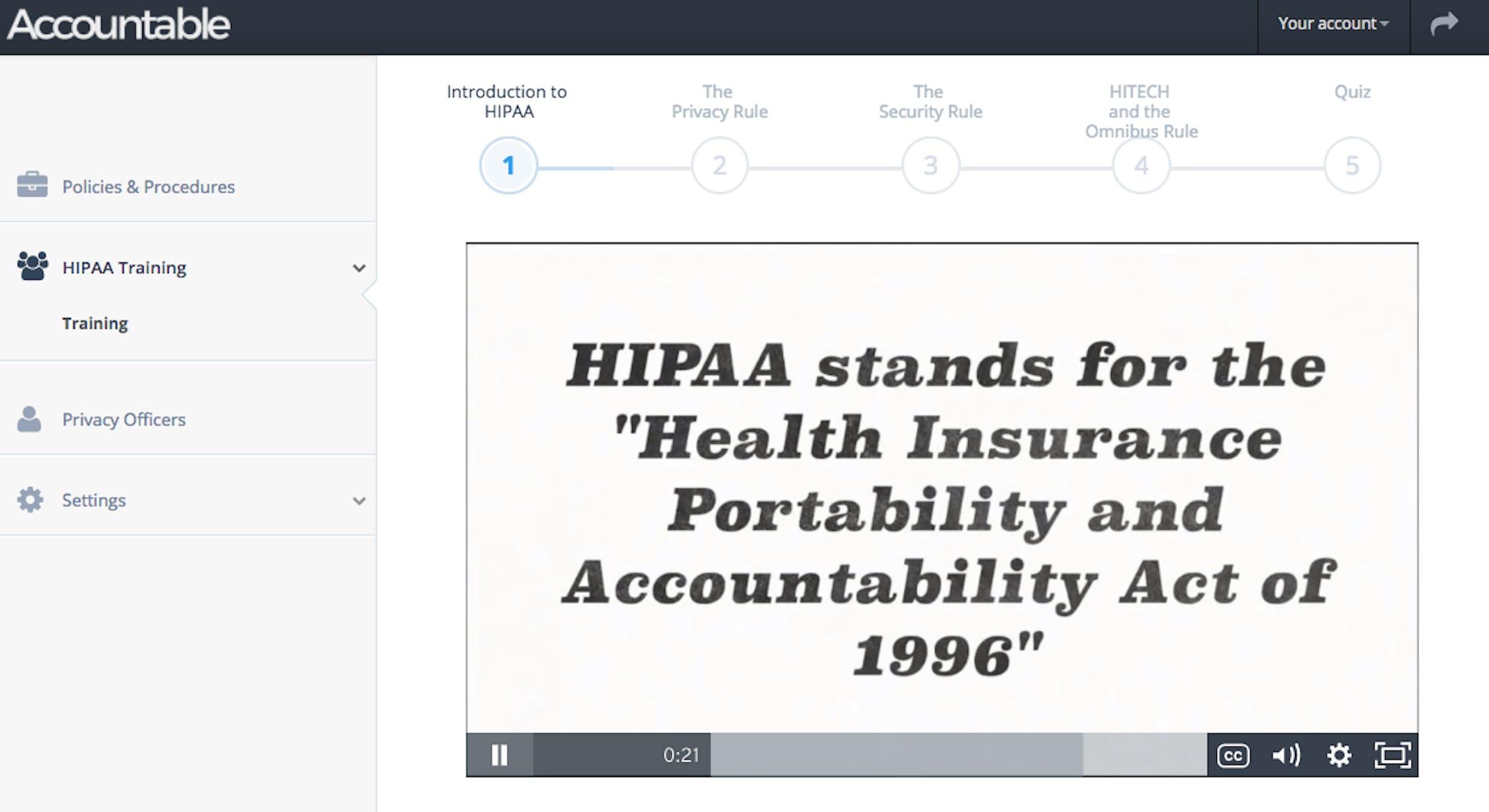 HIPAA training video