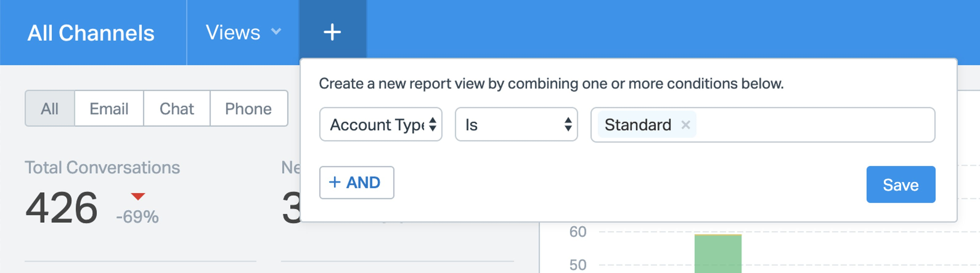 Use Views to filter reports
