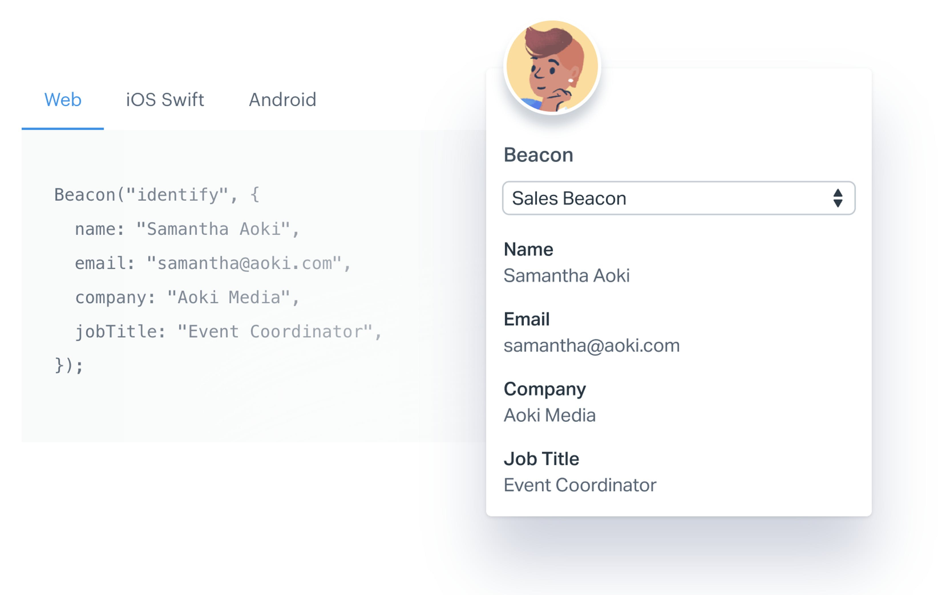 Beacon JavaScript snippet