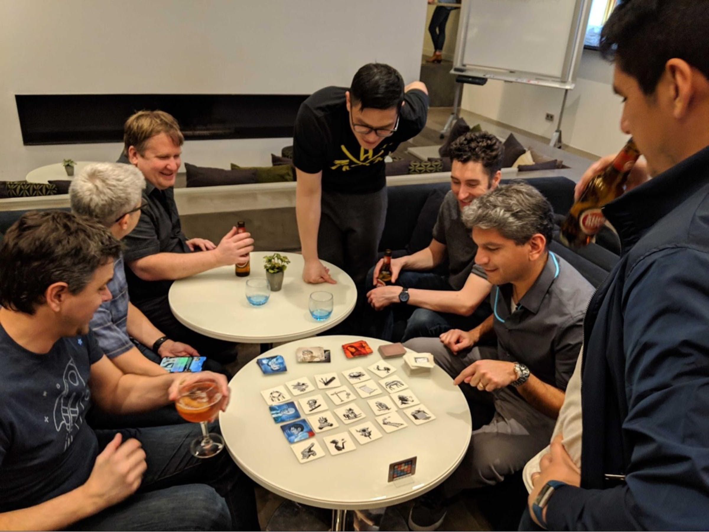 Some gamers gather during our Spring, 2019 retreat to Lisbon, Portugal.