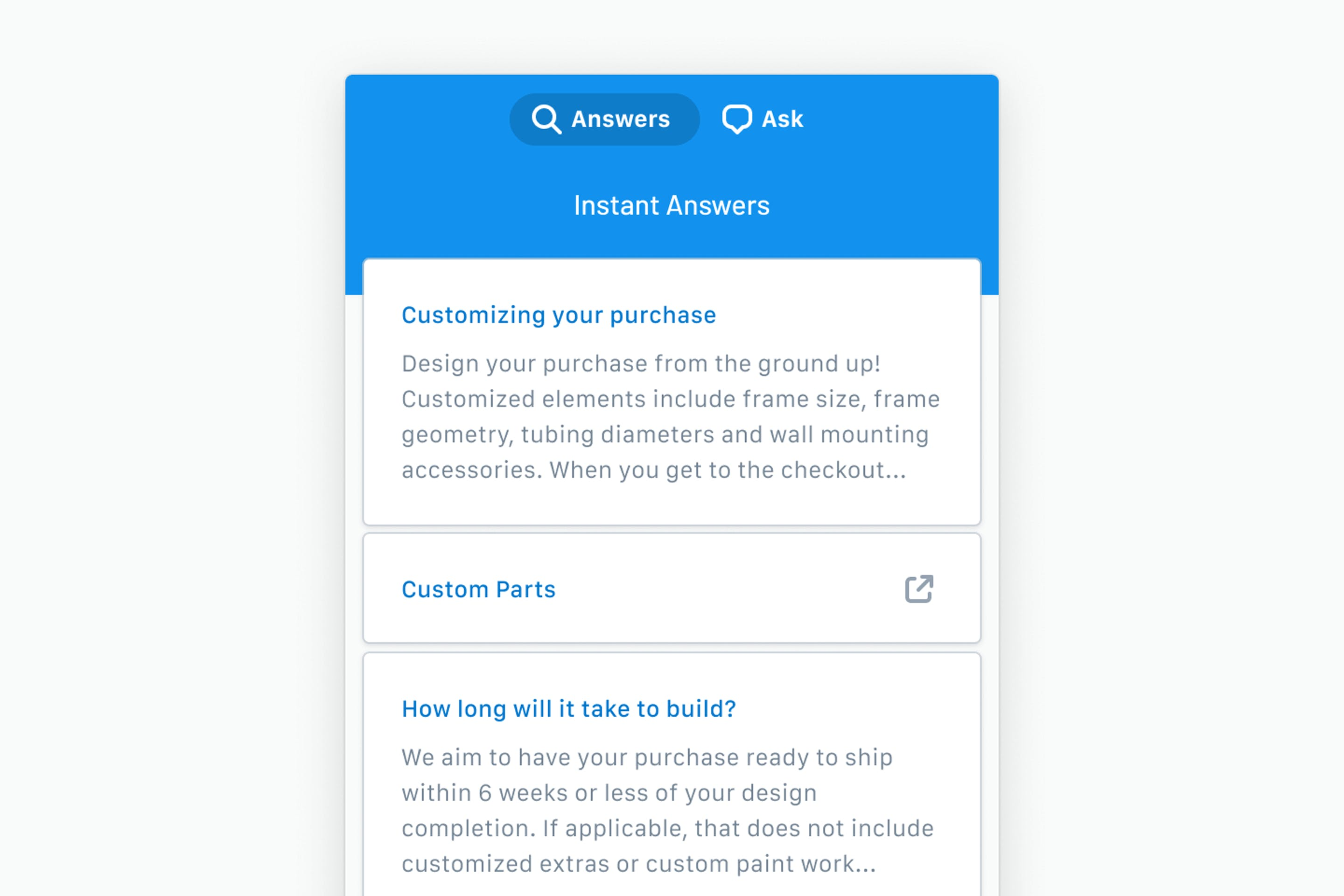Beacon can save everyone more time by providing customers with instant answers from your knowledge base.