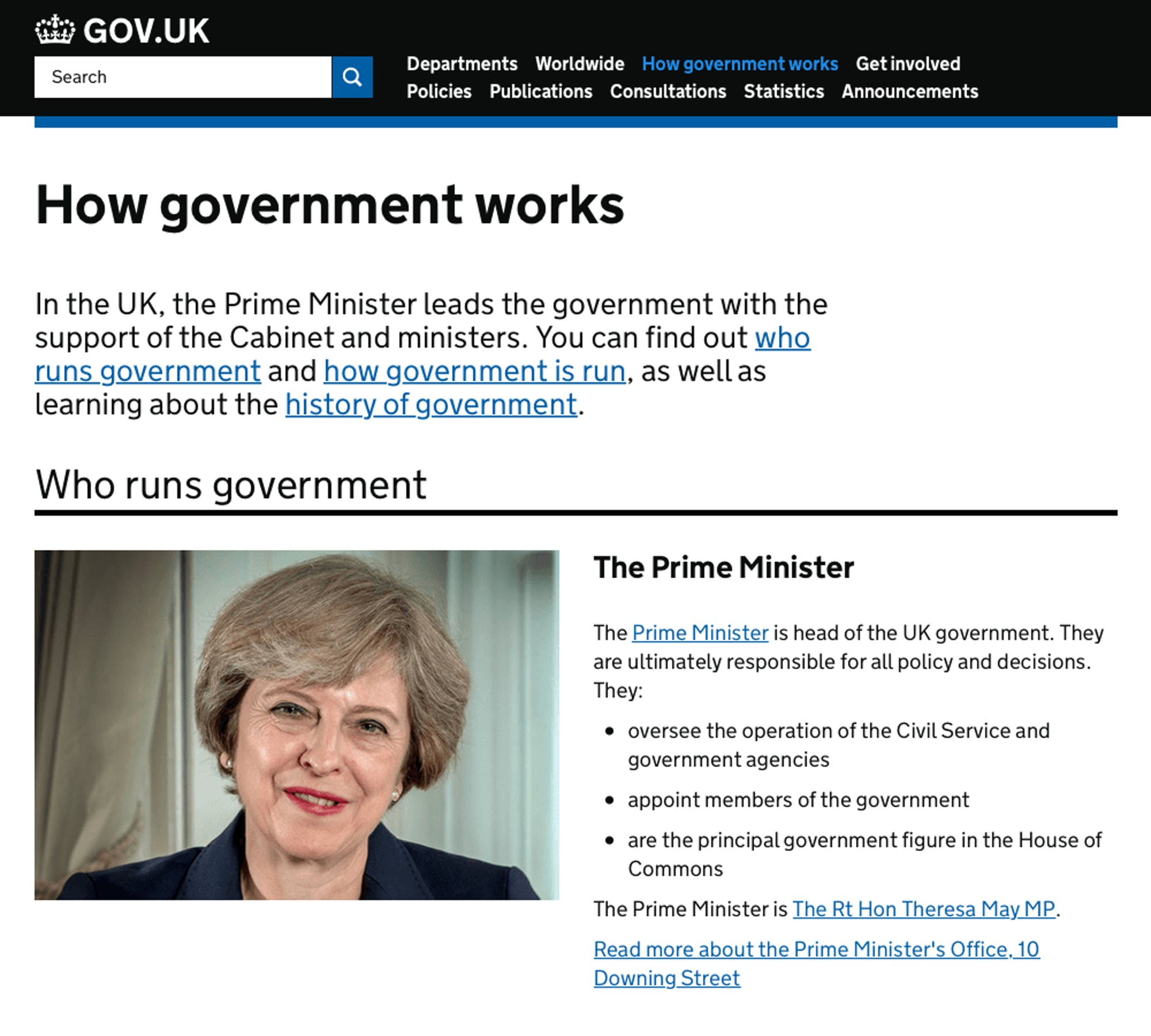 UK Government knowledge base