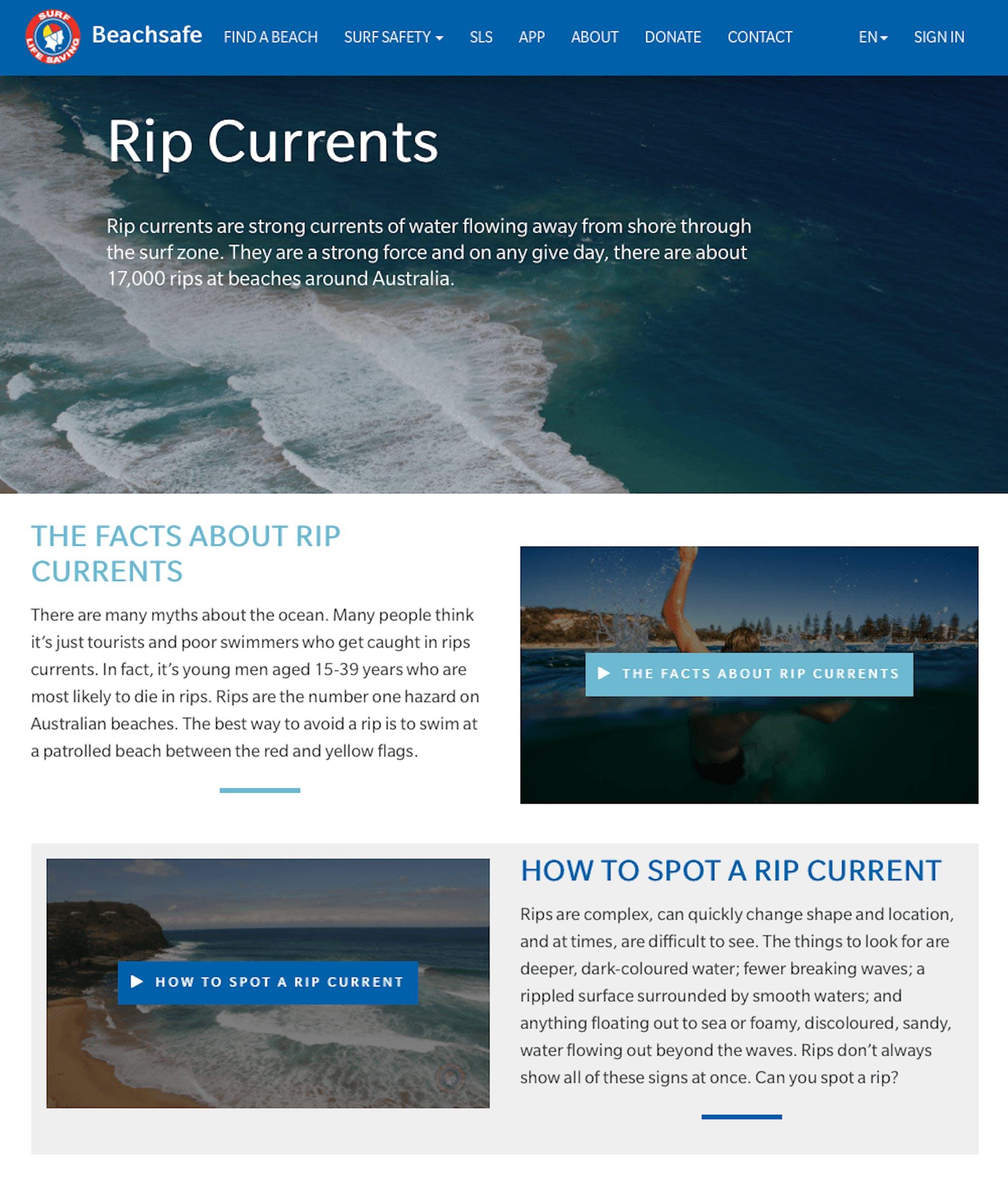 Beachsafe knowledge base