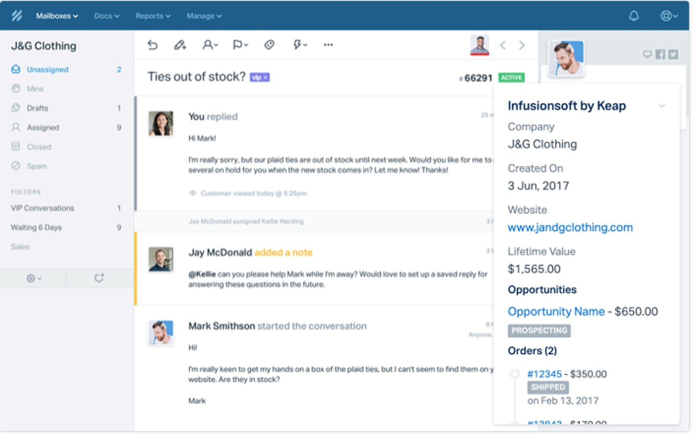 Help Scout - Infusionsoft integration