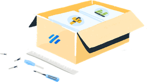 Illustration: The Help Scout experience delievered in a convenient box