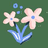 Illustration: Blooming flowers