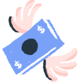 Illustration: Money with wings