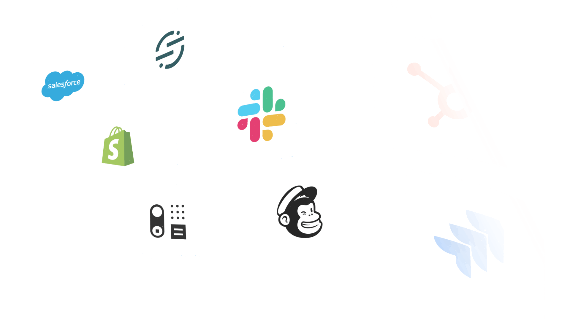 Grid of logos representing software that Help Scout integrates with