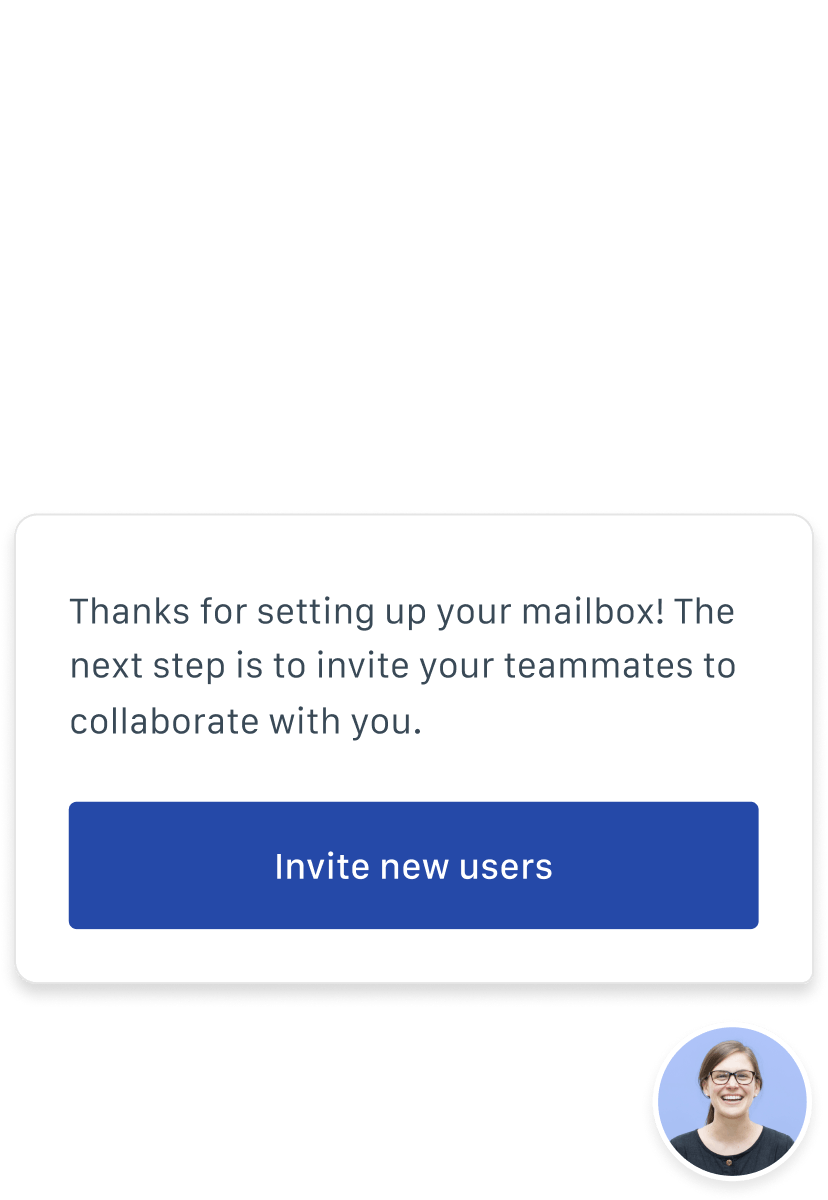 Screenshot: an invitation to invite new users