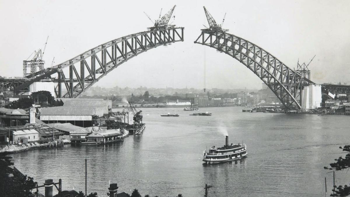 An incomplete Sydney Harbour Bridge