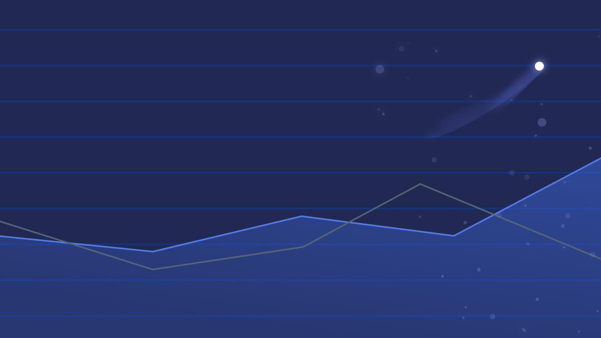 A blue toned line chart