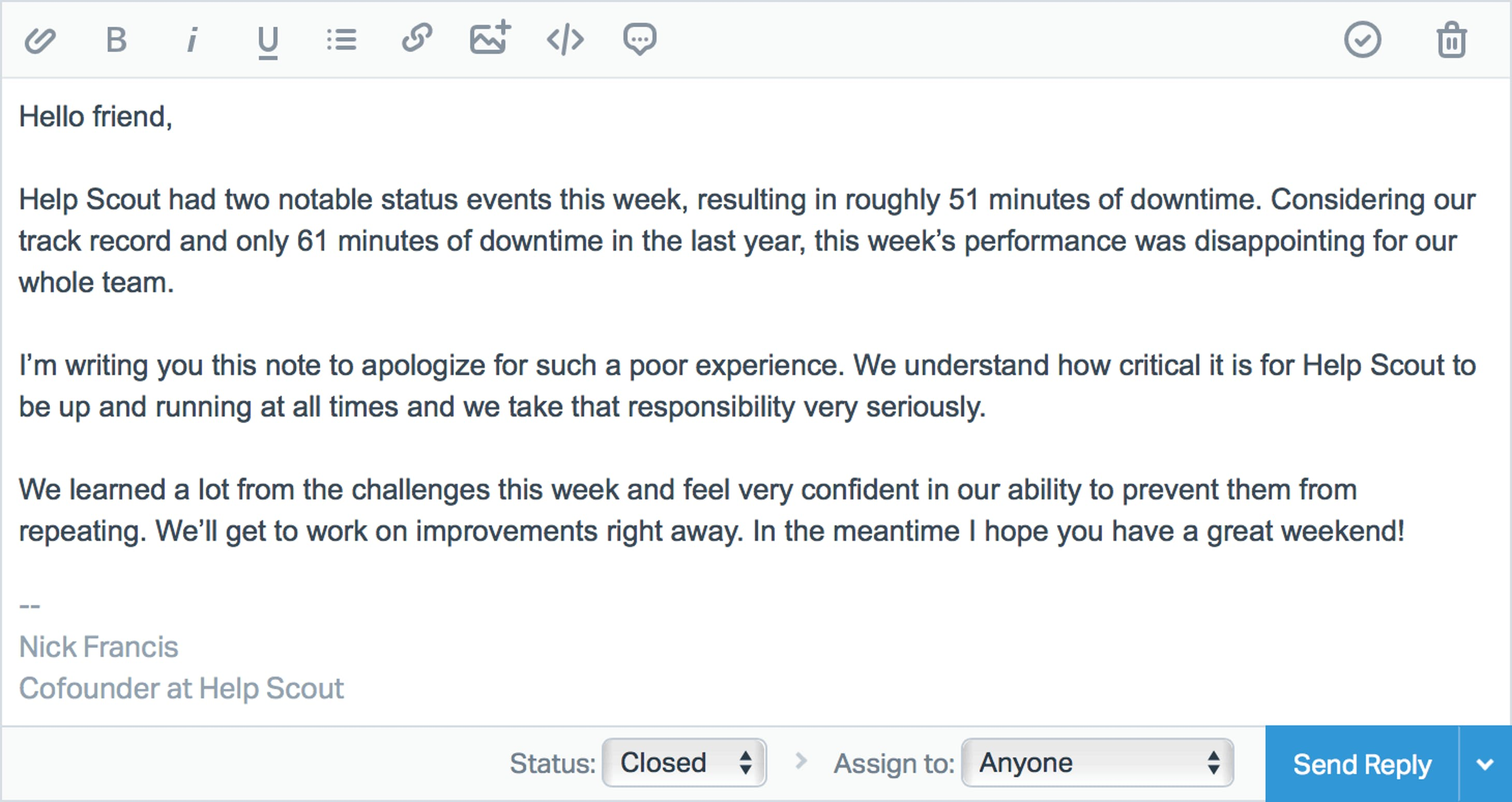 Help Scout Outage Response