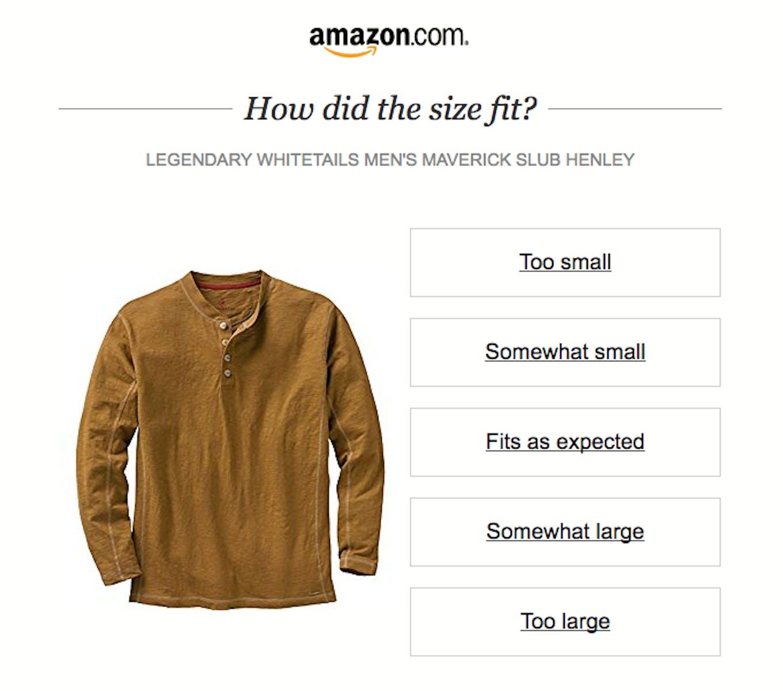 amazon customer survey example