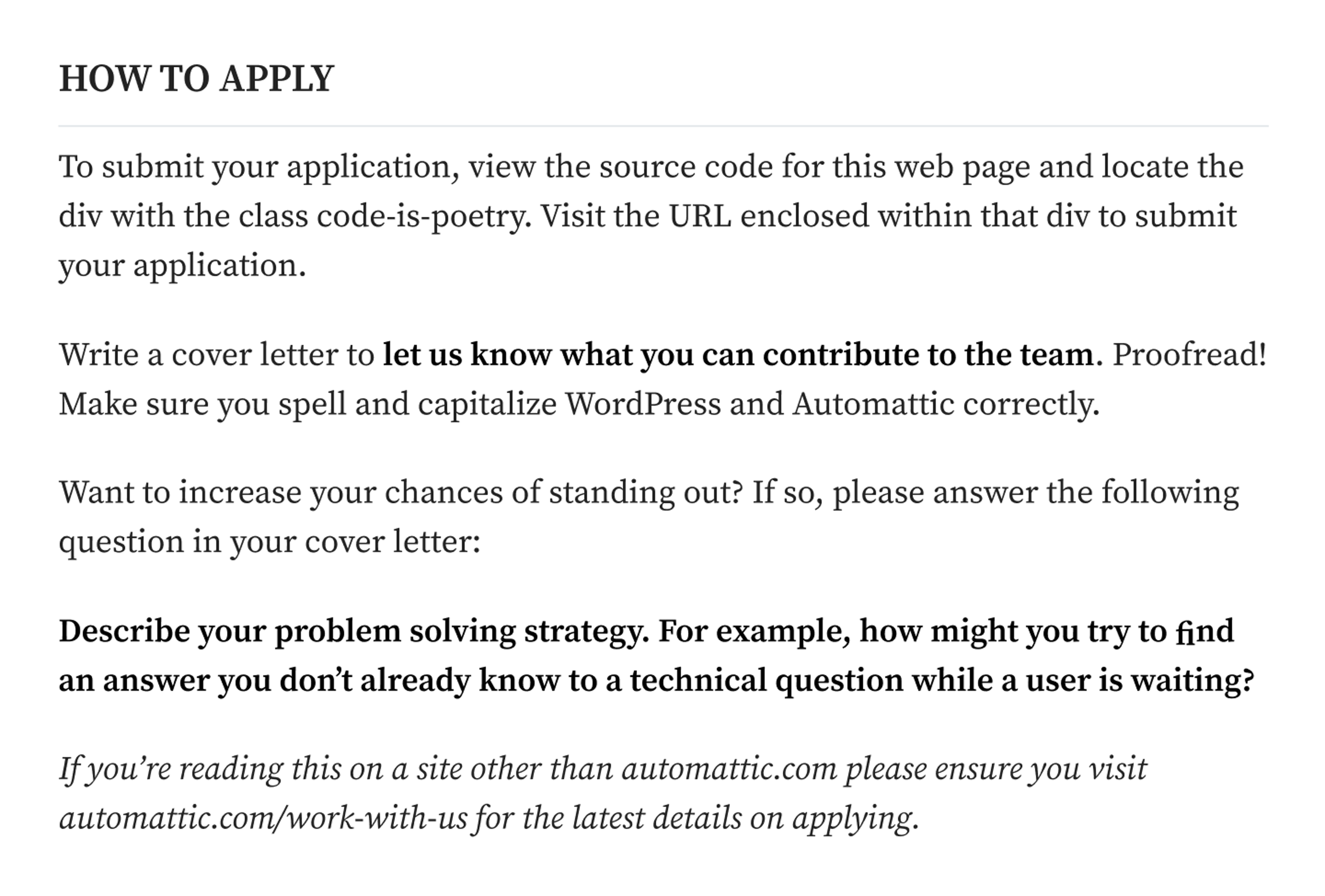 automattic support job description