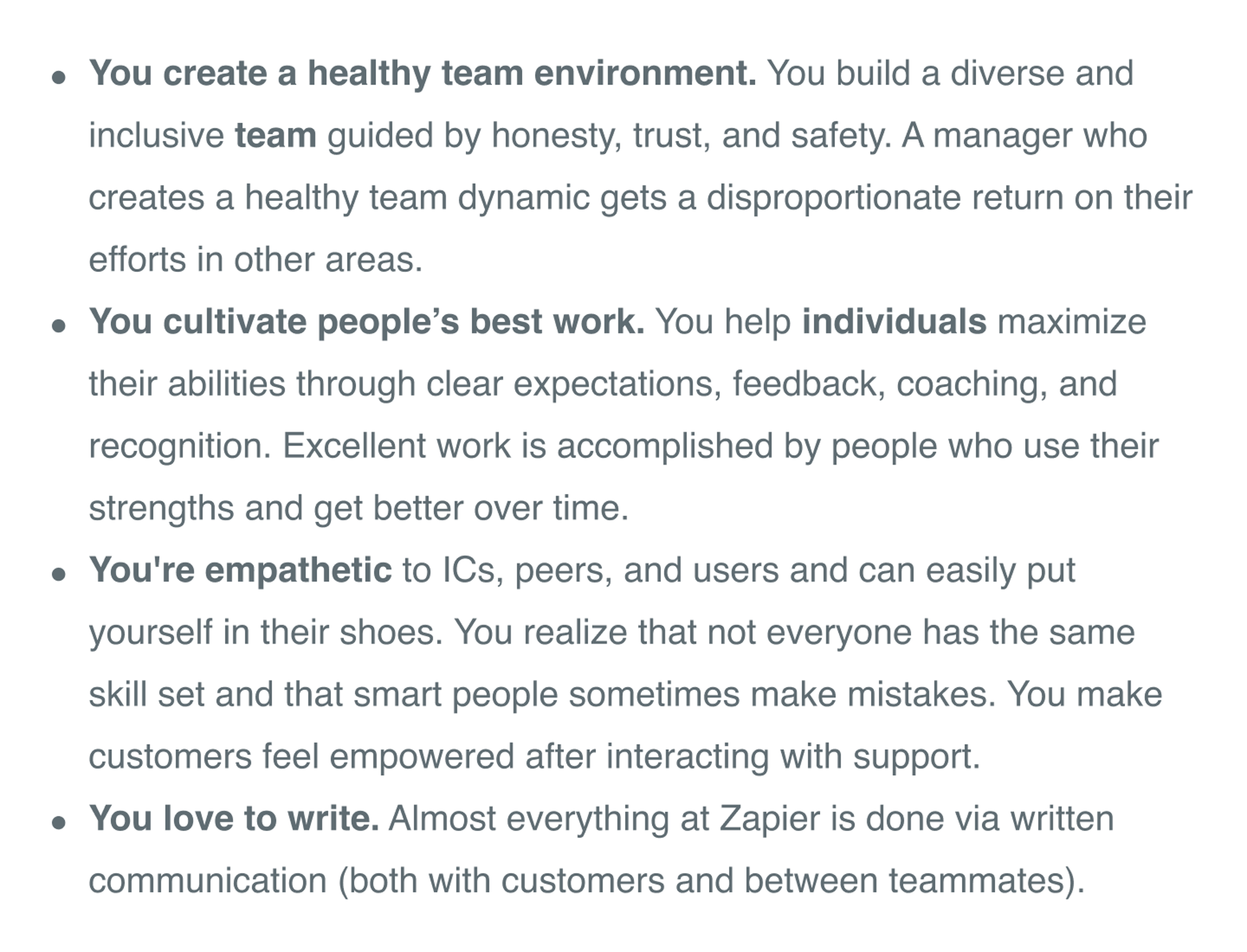 zapier support job description