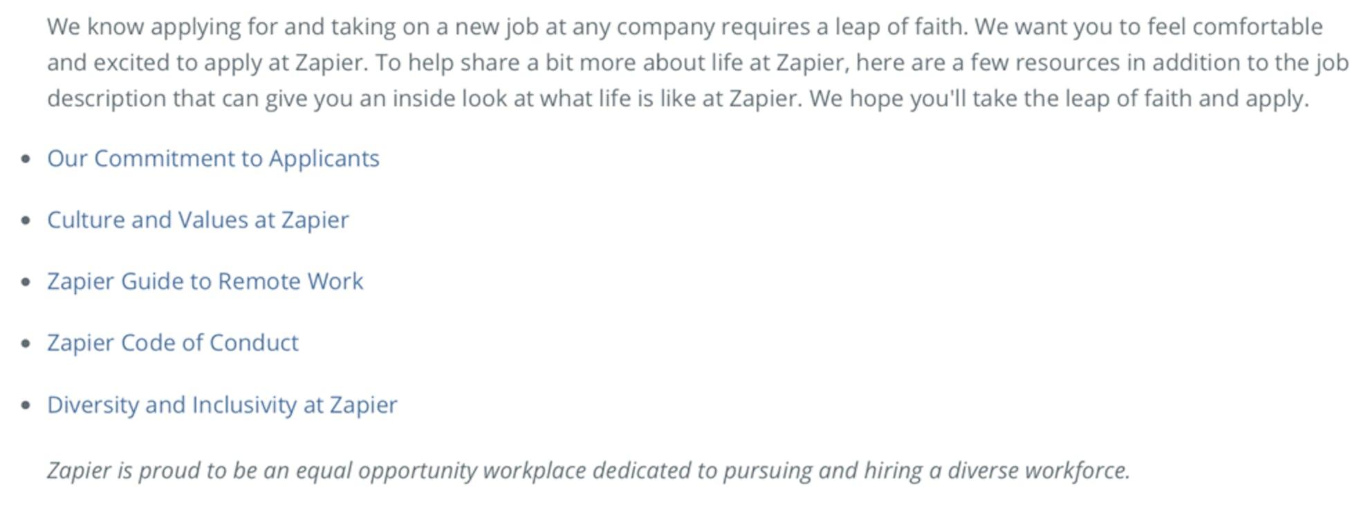zapier customer onboarding specialist job description