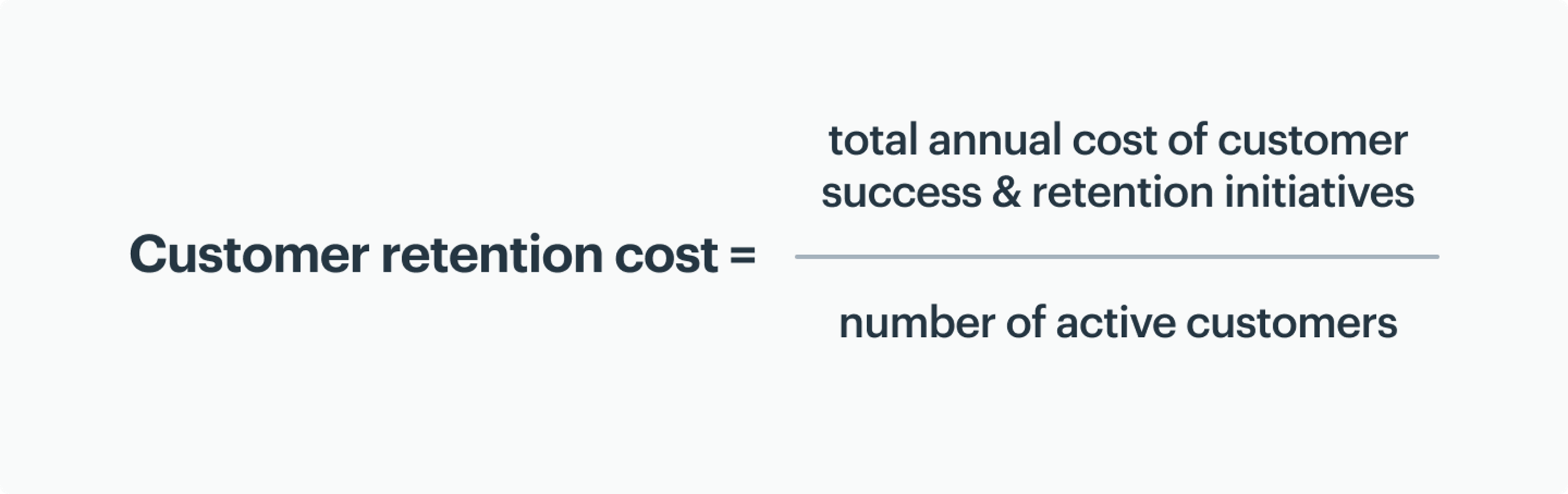 how to calculate customer retention cost