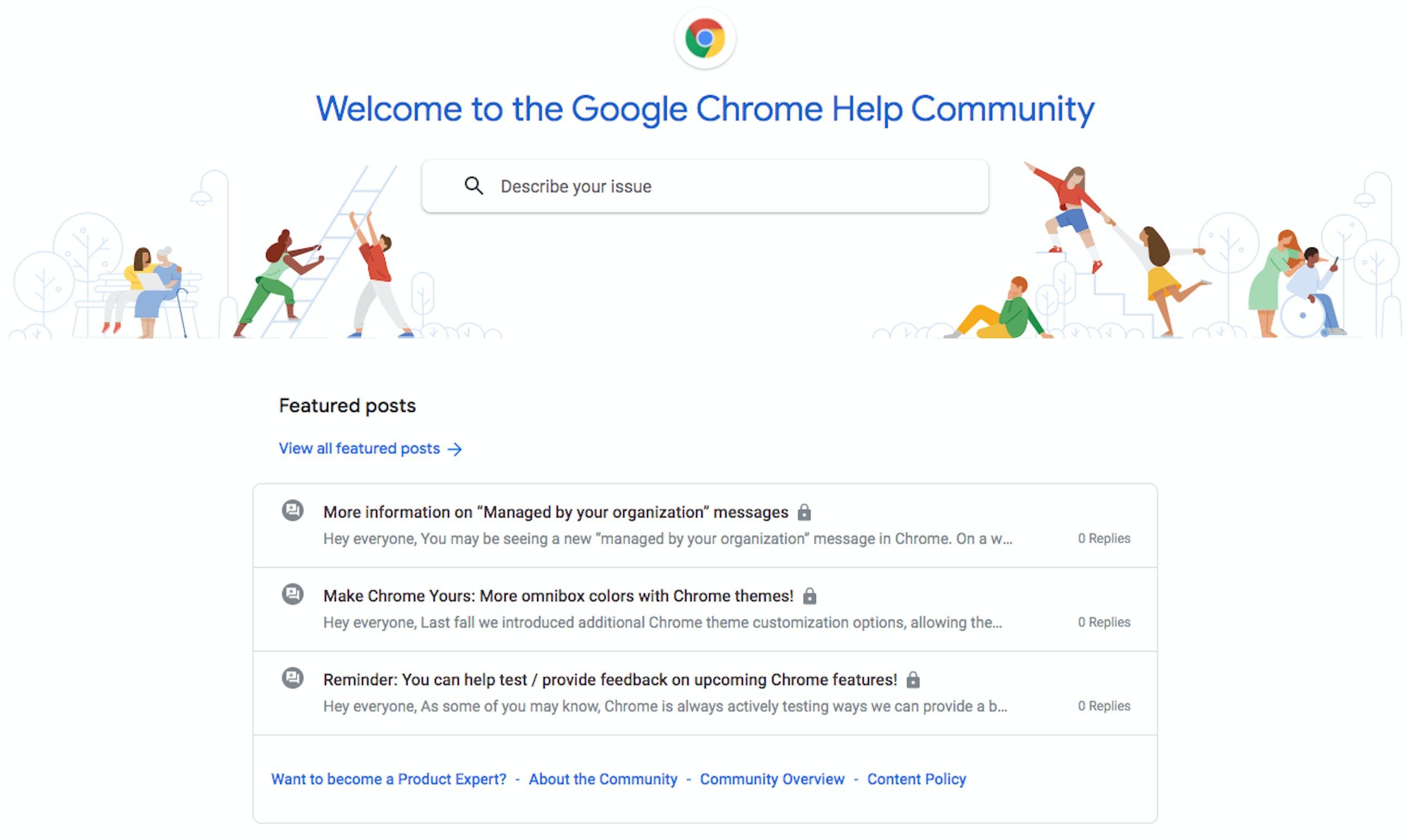 google chrome help community