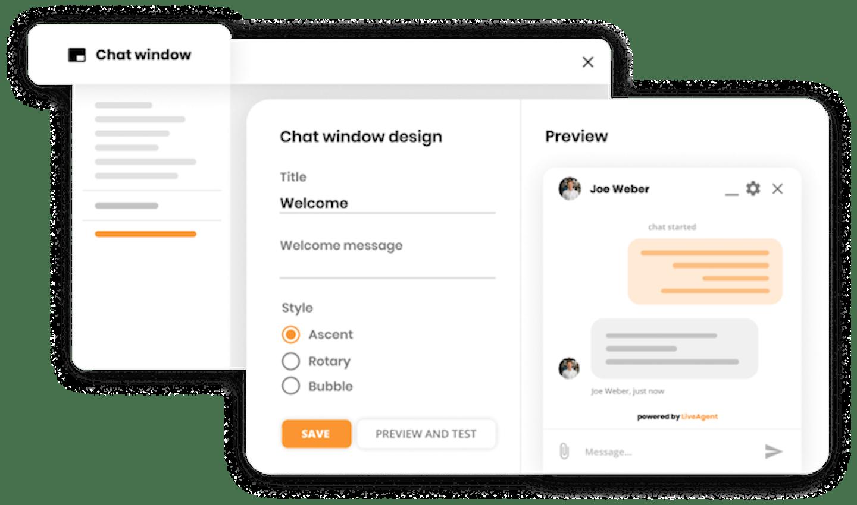 screenshot of liveagent's customer service software
