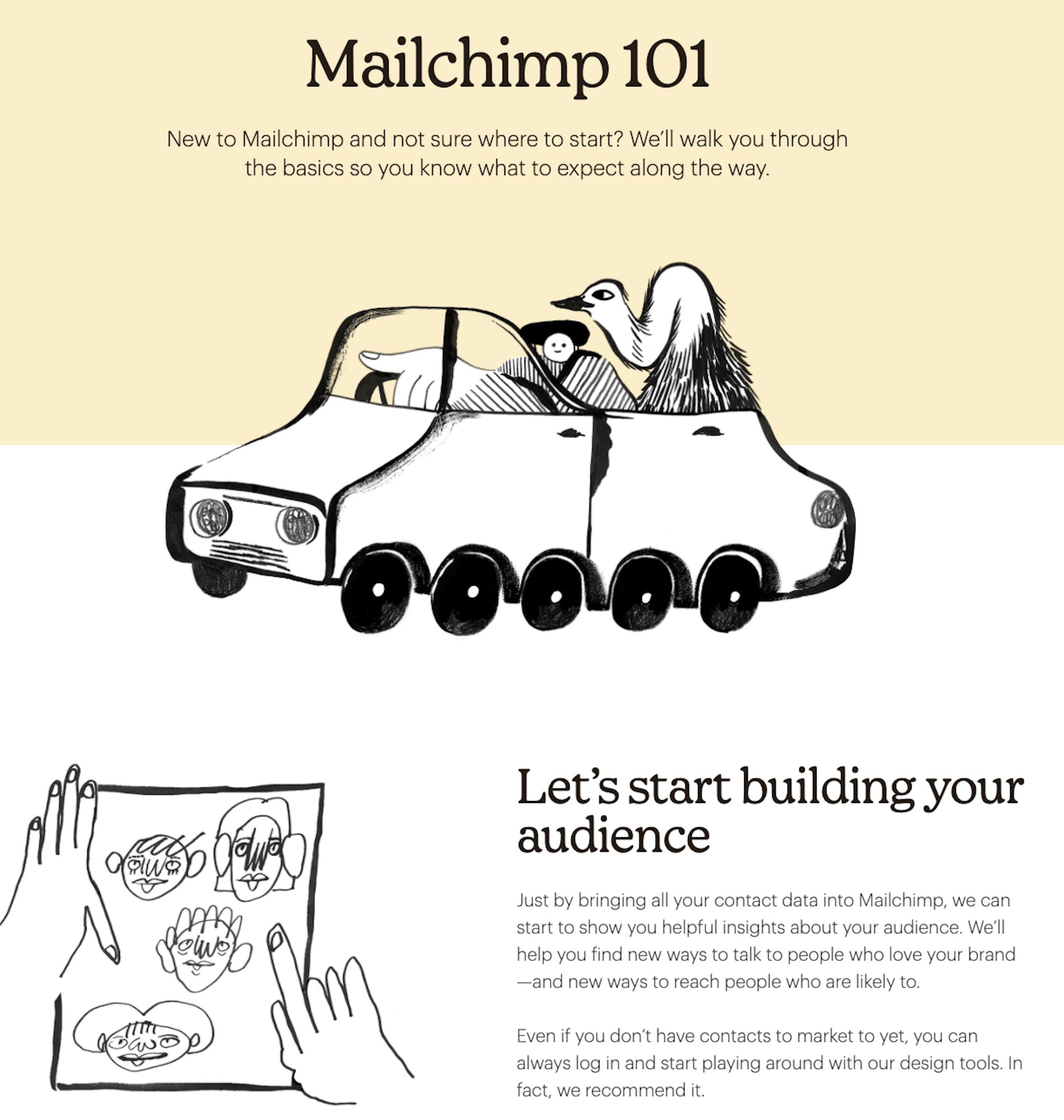 mailchimp's mailchimp 101 page