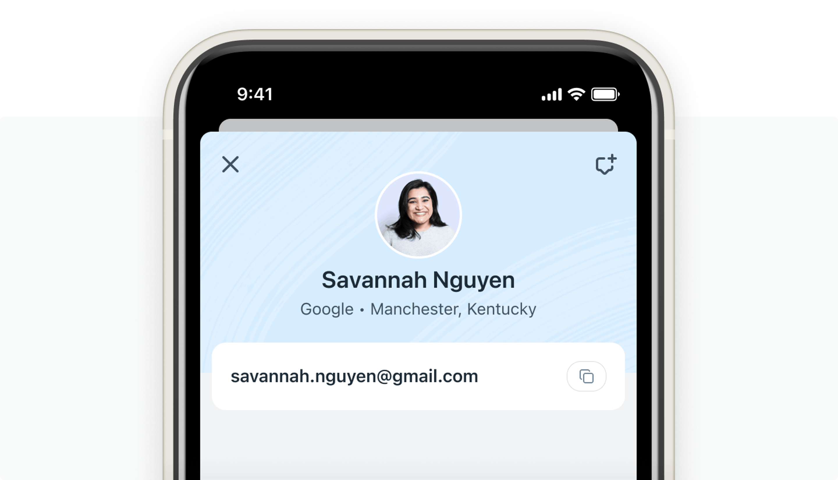 basic customer profile information in help scout's mobile app