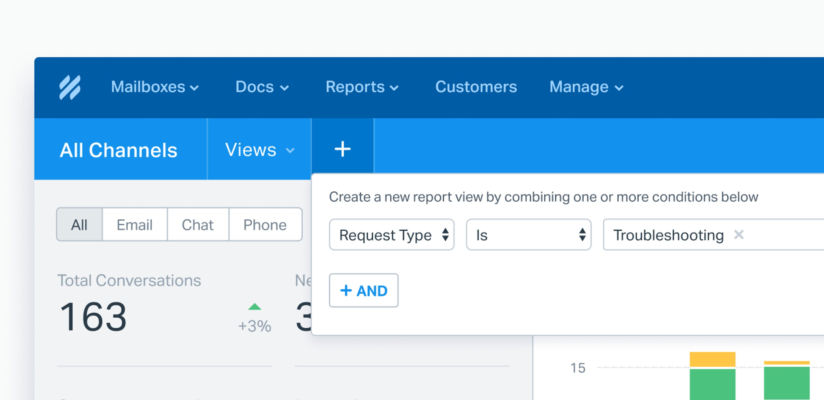 reporting views in help scout