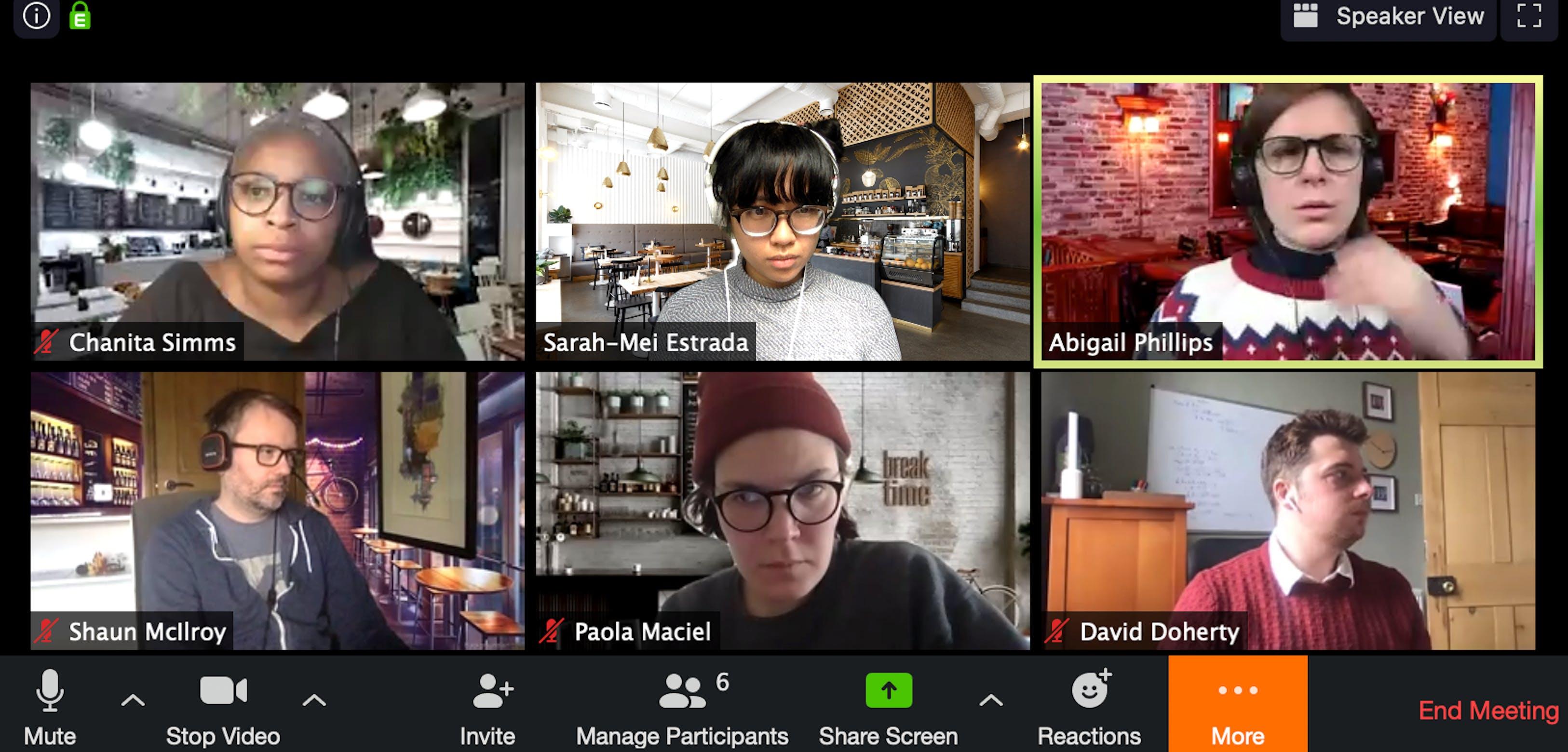 customers team zoom meeting